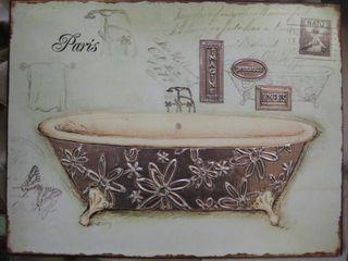 Bathtub wall hanging