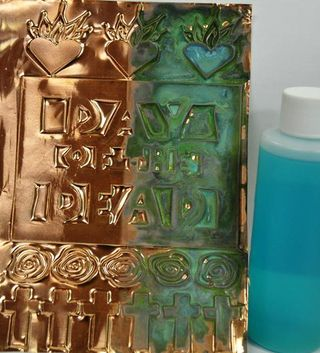 Copper and bottle