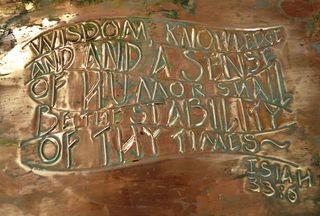 Wisdom in Copper